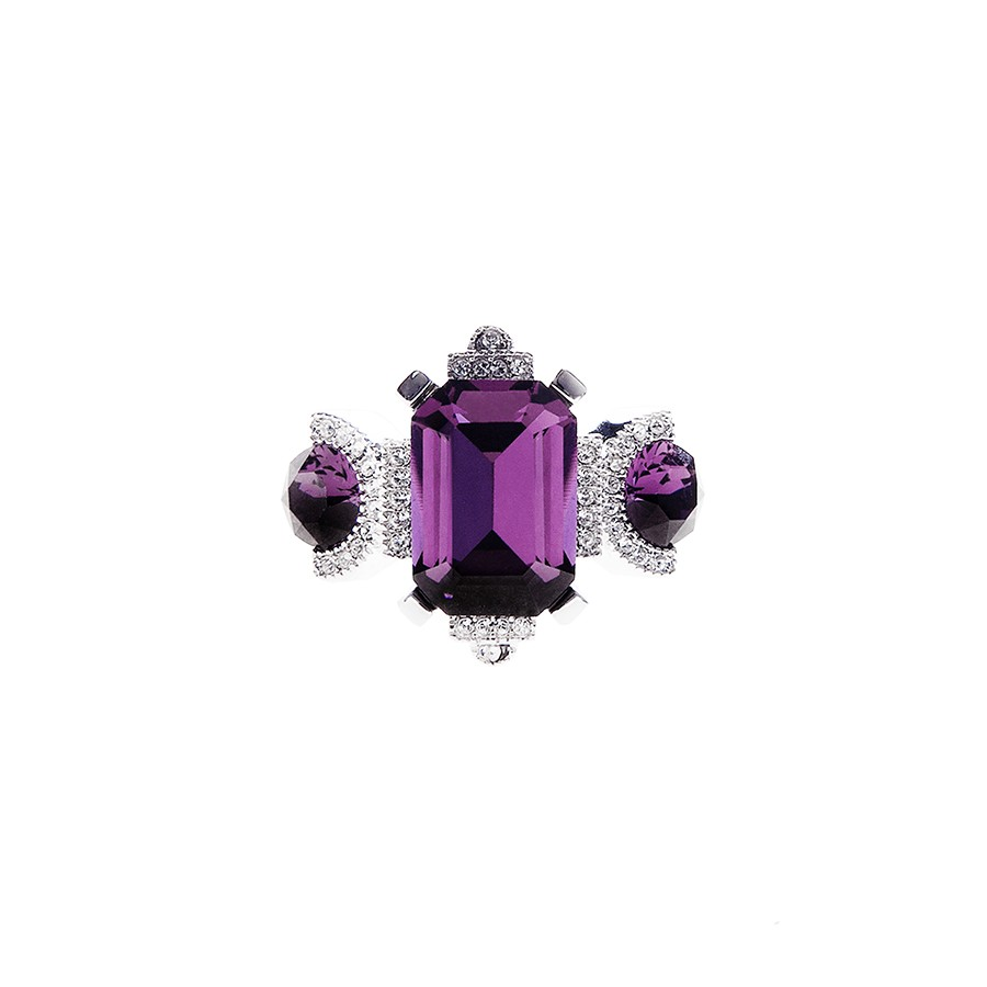 """Sweet twenties"" ring amethyst"