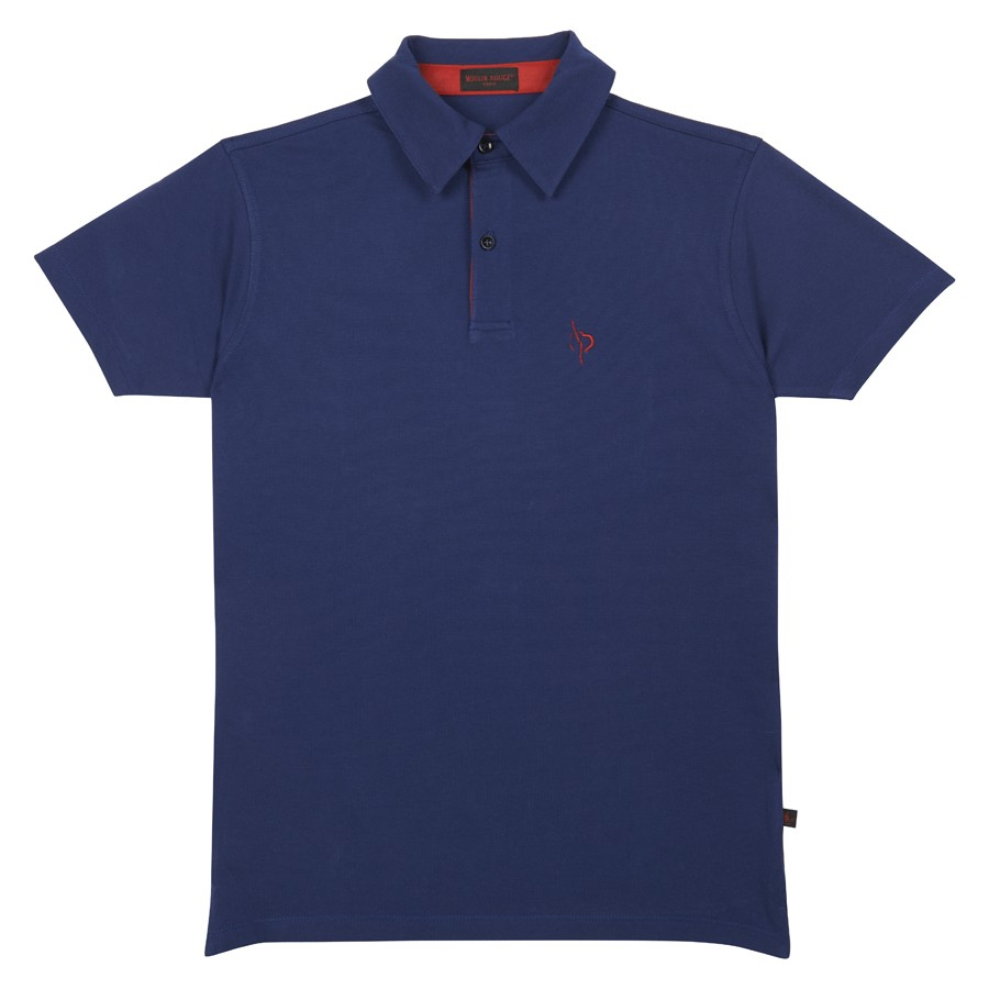 """Cancaneuse"" blue Polo Shirt"