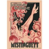 Mistinguett Moulin Rouge poster by Rougemont
