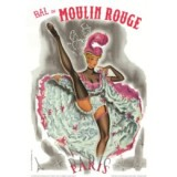 Moulin Rouge Cancan poster