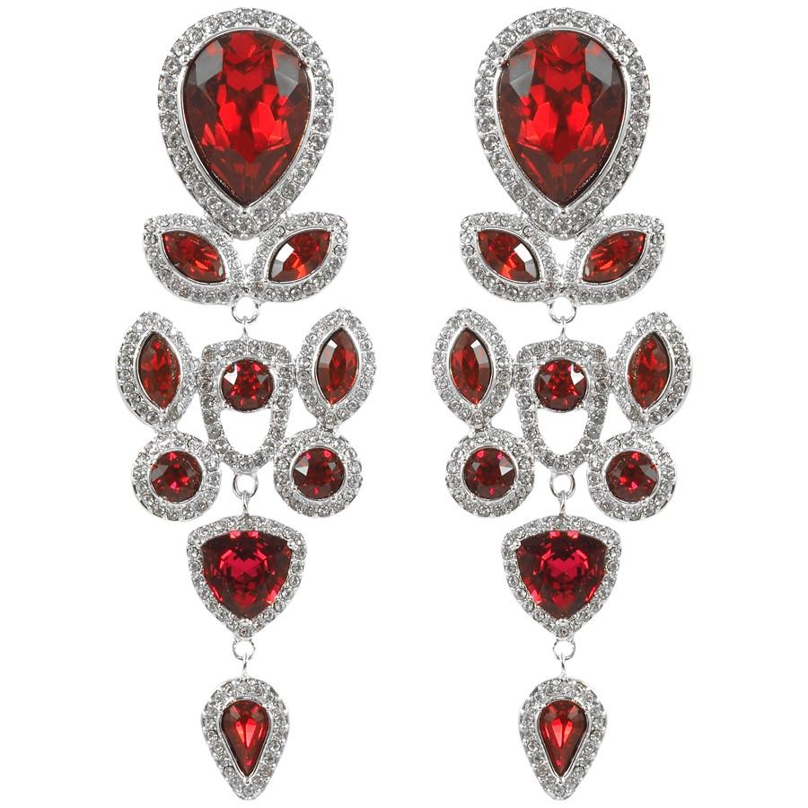 Boucles d'oreilles pendantes Rouge Crush