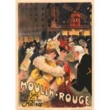 Affiche 1900 Moulin Rouge par Villefroy