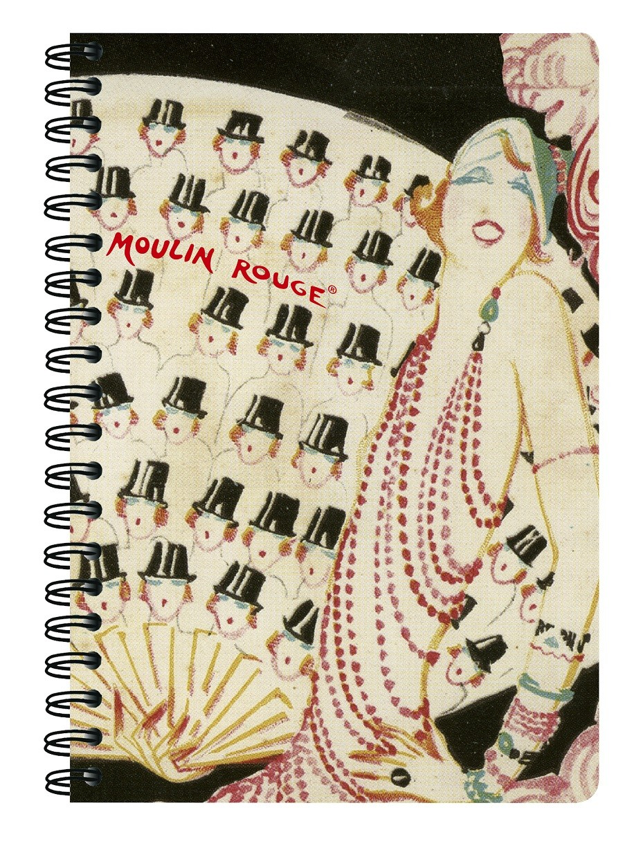 """Hats"" A5 spiral notebook"