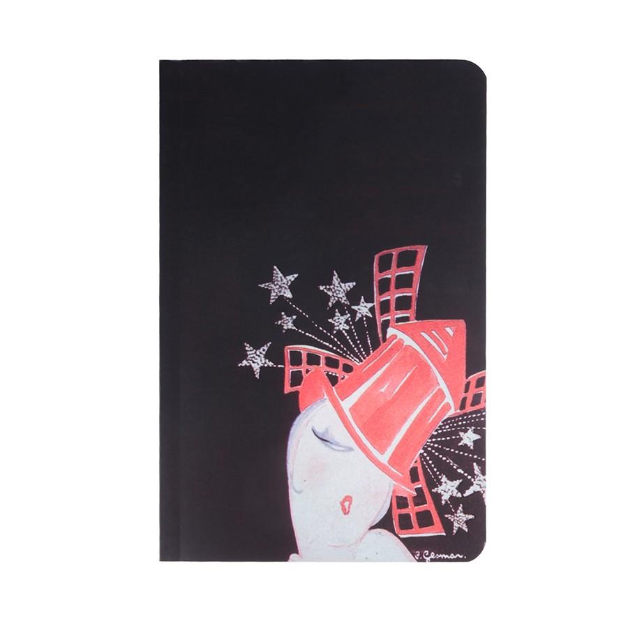 Moulin Chapeau 11x17 notebook