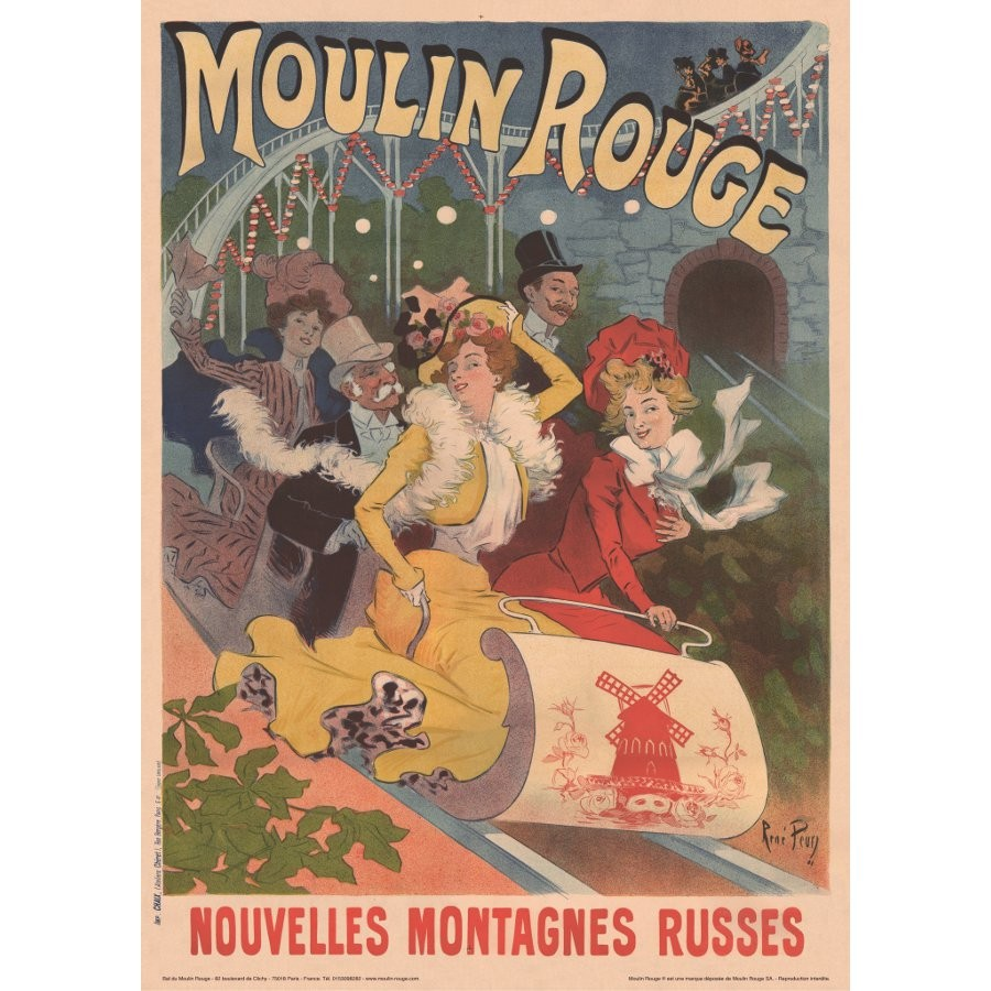 Moulin Rouge Montagne Russes Poster
