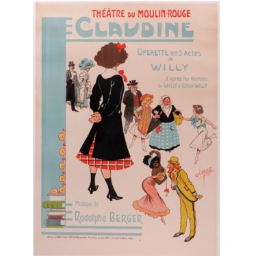 Moulin Rouge Claudine poster