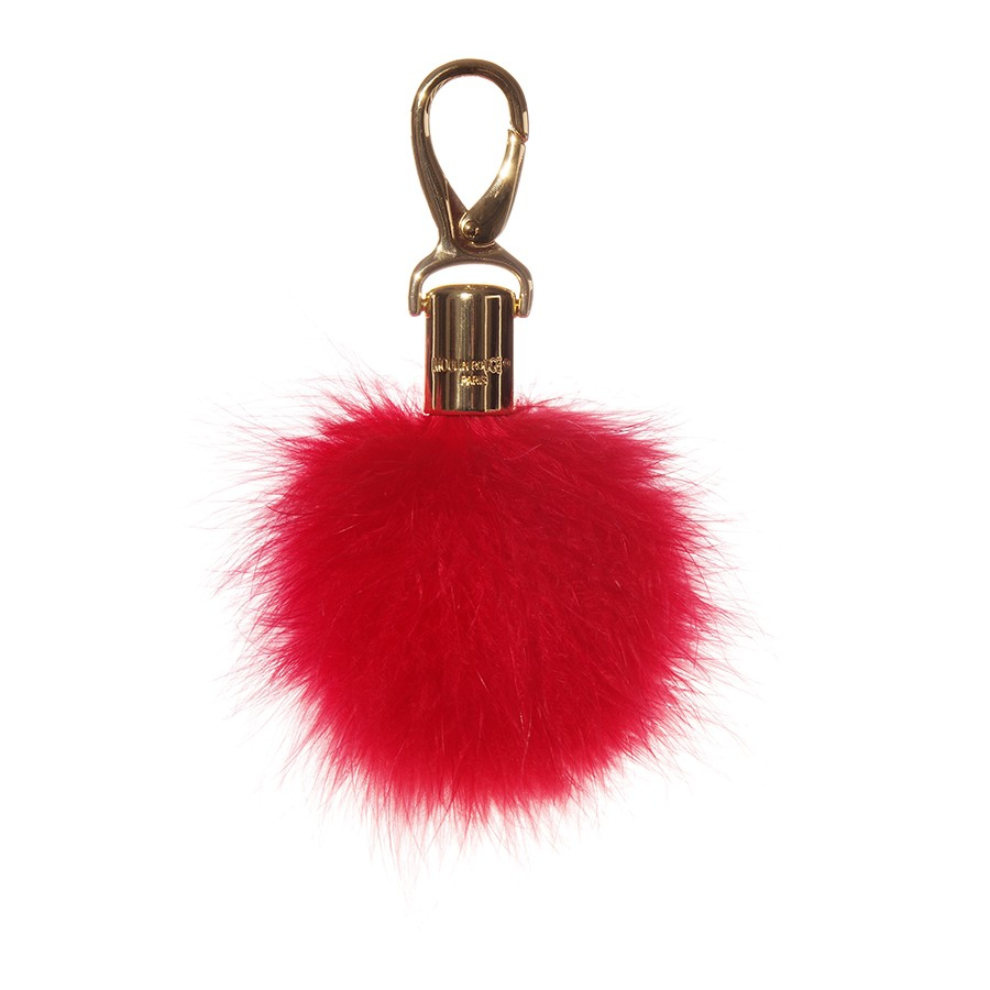 Feather Pompom Keychain